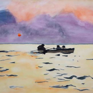 winslow homer watercolor, Rowing home